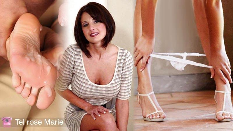 tel rose marie lou sexy sperme sur pied culotte baissée